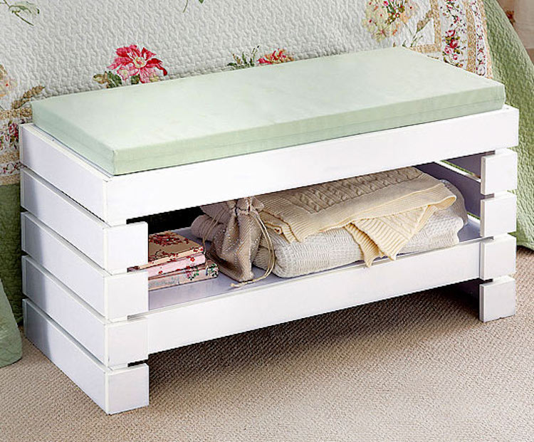 Bathroom Storage Bench Seating