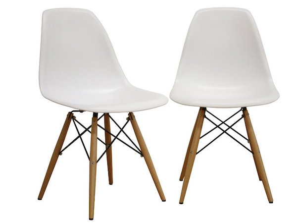 Baxton Studio Set of 2 LA Plastic Side Chairs