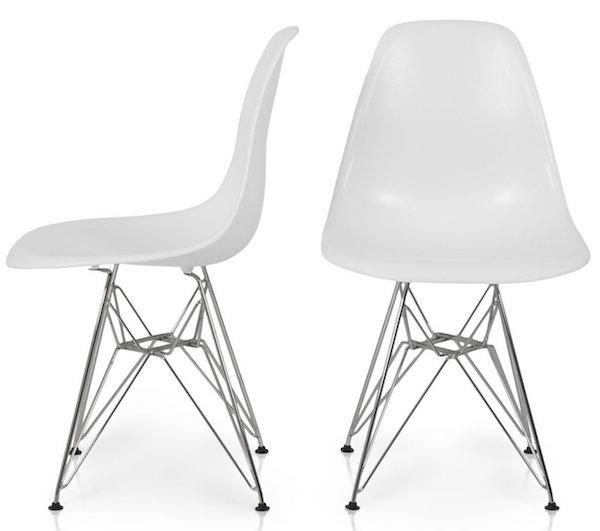 Bellezza© Eames Style Molded Plastic Eiffel Side Chair