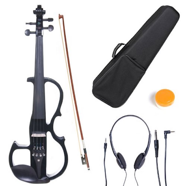 Cecilio 3/4 CEVN-2BK Solid Wood Electric/Silent Violin