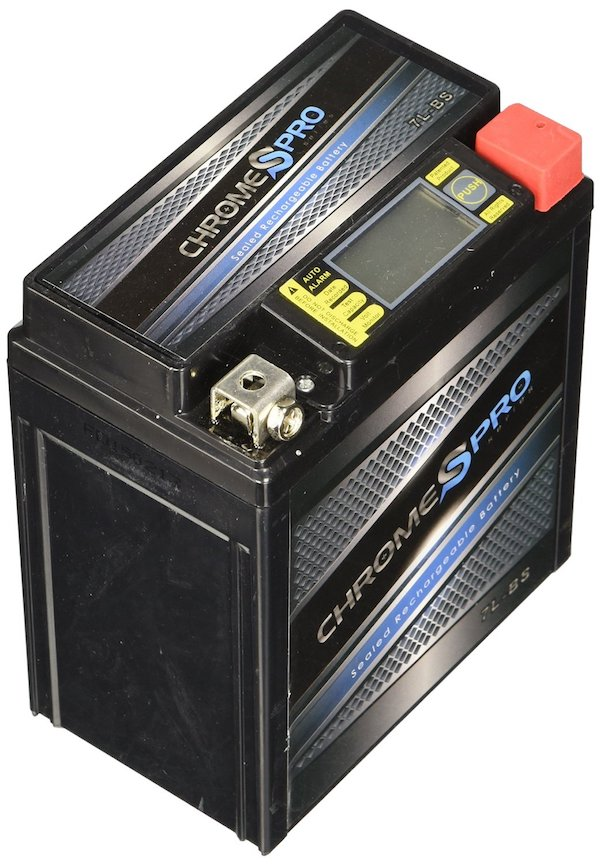 Chrome Battery YTX7L-BS High Performance Motorcycle Battery