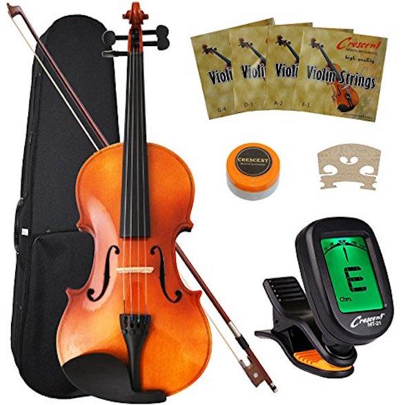 Crescent 4/4 Full Size Student Violin Starter Kit