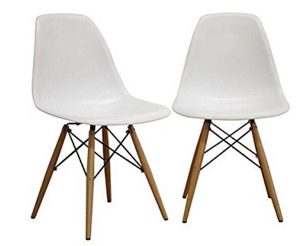 Fancierstudio Mid-Century Modern Designer Plastic Chair
