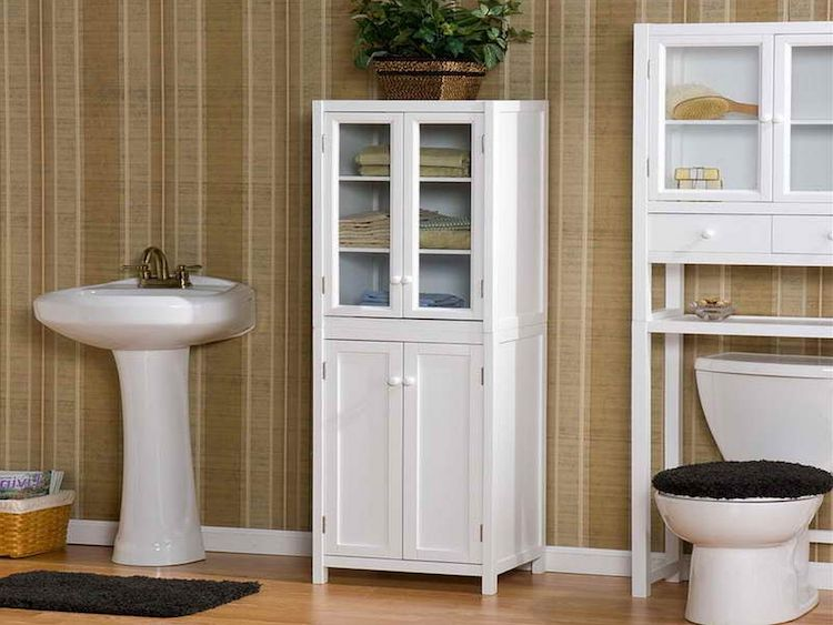 bathroom freestanding cabinets wood 25 inventive bathroom storage ideas made easy 11500