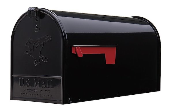 Gibraltar Elite Large Capacity Galvanized Steel Black Post-Mount Mailbox