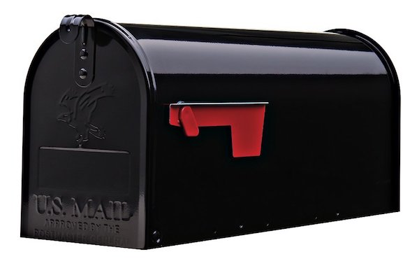 Gibraltar Elite Medium Capacity Galvanized Steel Black Post-Mount Mailbox