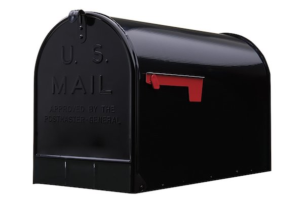 Gibraltar Stanley Extra-Large Capacity Galvanized Steel Black Post-Mount Mailbox