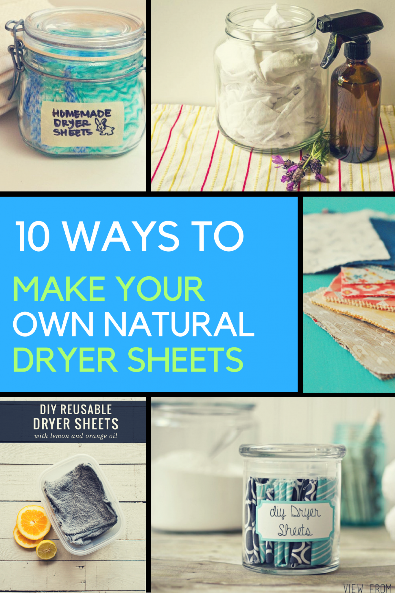 10 Ways to Make Your Own Natural Dryer Sheets in Under a 1 Minute. | Ideahacks.com