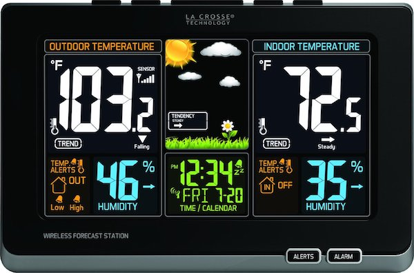 La Crosse Technology 308-1414B Wireless Atomic Digital Color Forecast Station
