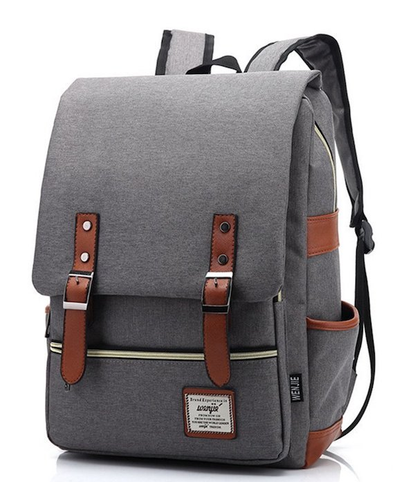 Orota Vintage College Backpack School Bookbag Canvas Laptop Backpack