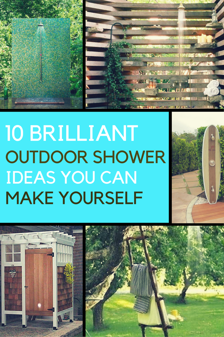 10 Brilliant Outdoor Shower Fixtures You Can Make Yourself. | Ideahacks.com