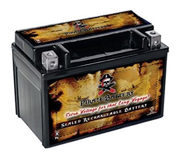 Pirate Battery YTX9-BS High Performance Power Sports Battery