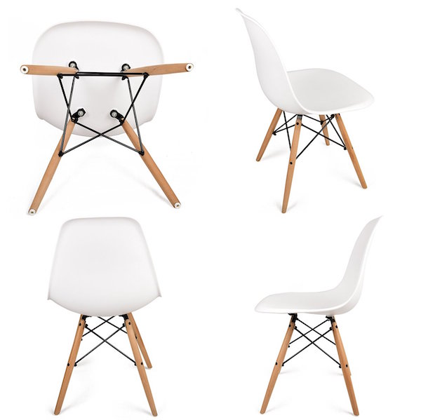 UrbanMod Eames Style Modern Dining Side Chairs