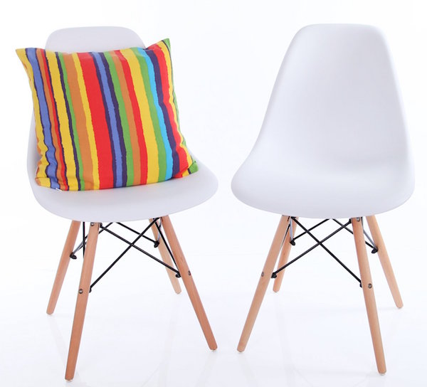 Vecelo Eames Chair with Natural Wood Legs