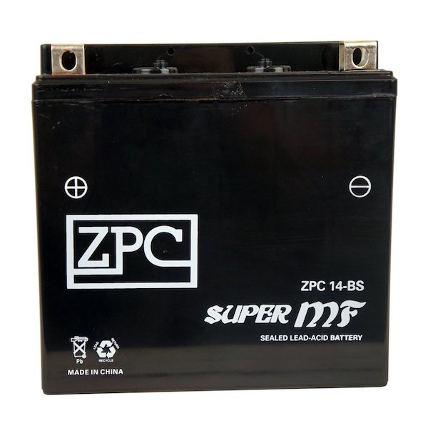 ZPC Battery YTX14-BS High Performance Motorcycle Battery