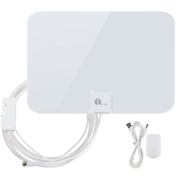 1byone 50 Miles Amplified HDTV Antenna