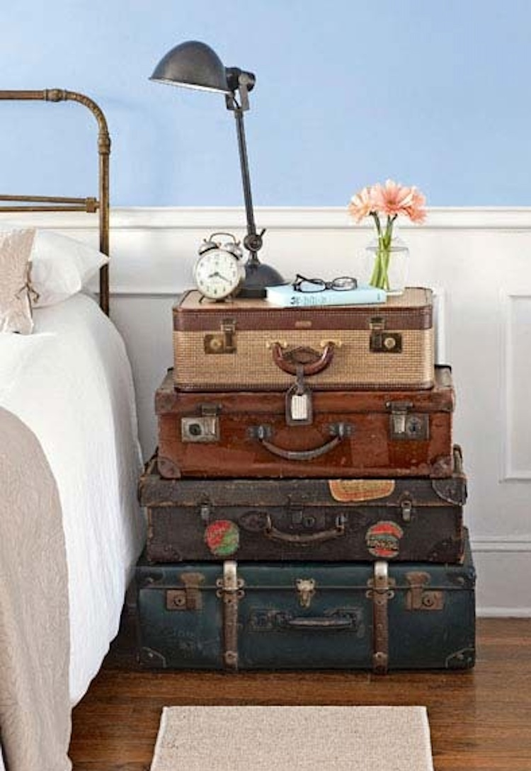 Old Suitcase Night Stands