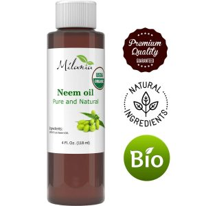 Premium Organic Neem Oil Virgin, Cold Pressed