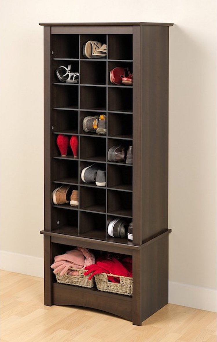 Store Your Shoes In A Vertical Shoe Cabinet.
