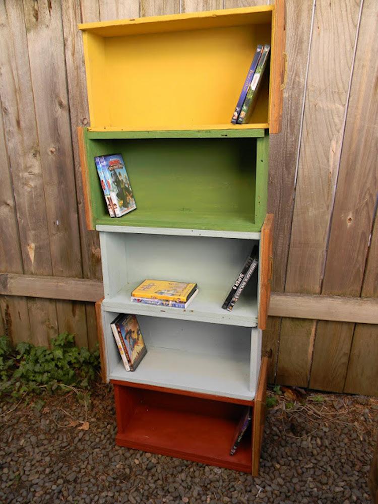 Upcycled Drawer Shelf