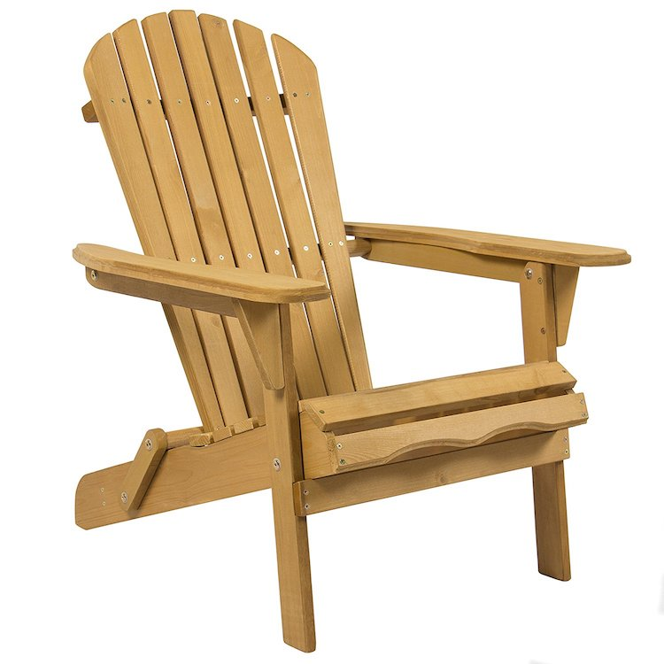 Best Choice Products Outdoor Patio Lawn Deck Foldable Adirondack Wood Chair