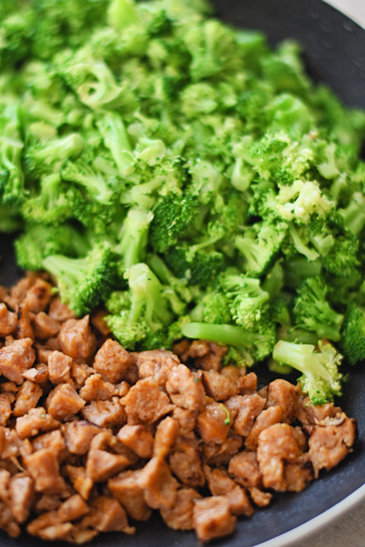 Broccoli and chicken sausage