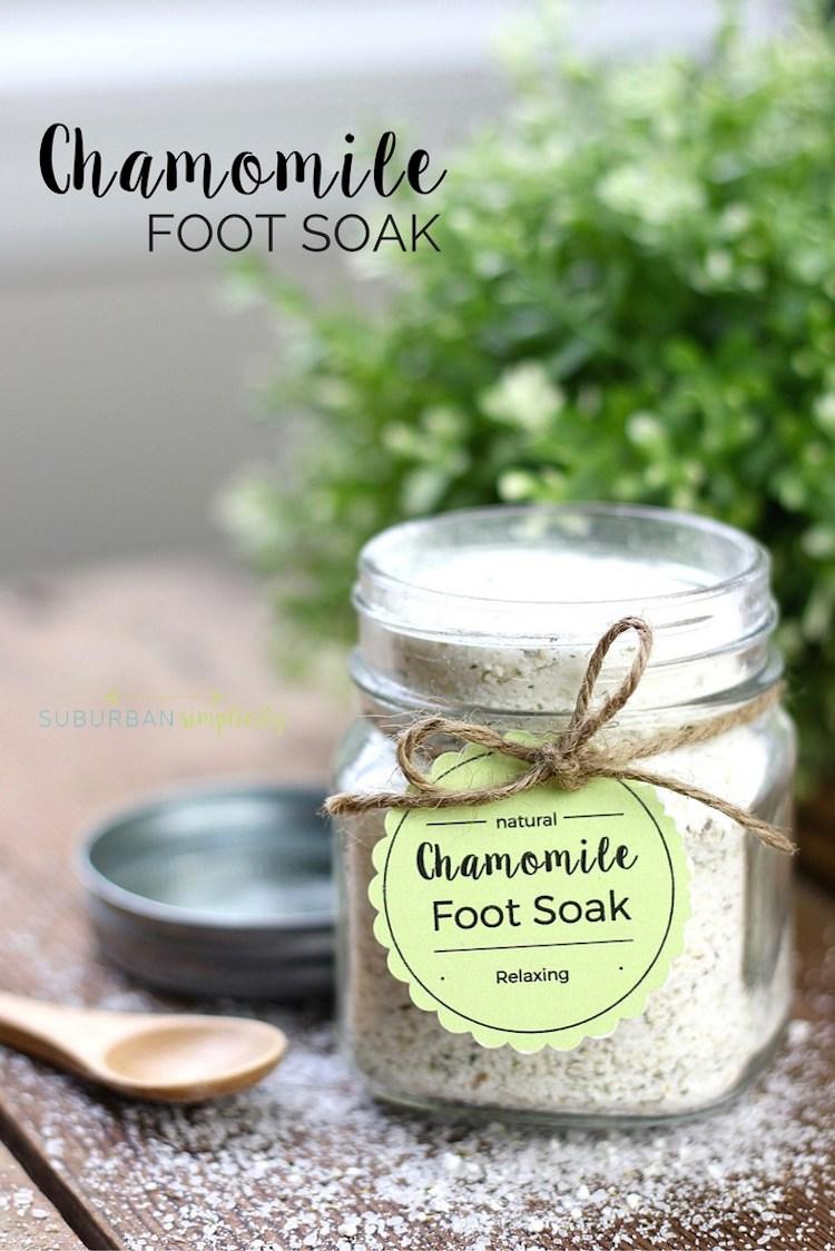 Chamomile Tea Foot Soak