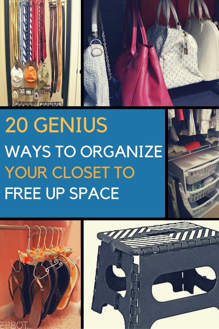 20 Ideas on How to Organize Your Small Closet. | Ideahacks.com