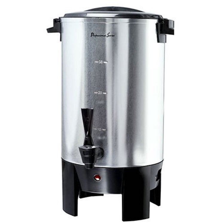 Continental Electric CP43699 30-Cup Stainless Steel Single Coffee Wall Urn