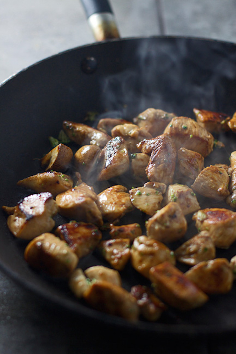 Cooking Chicken in Skillet