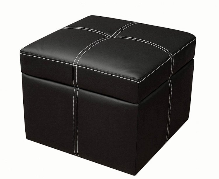 DHP Delaney Small Square Storage Ottoman