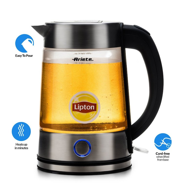 Delonghi Ariete Modern Electric Cordless Glass Tea Kettle