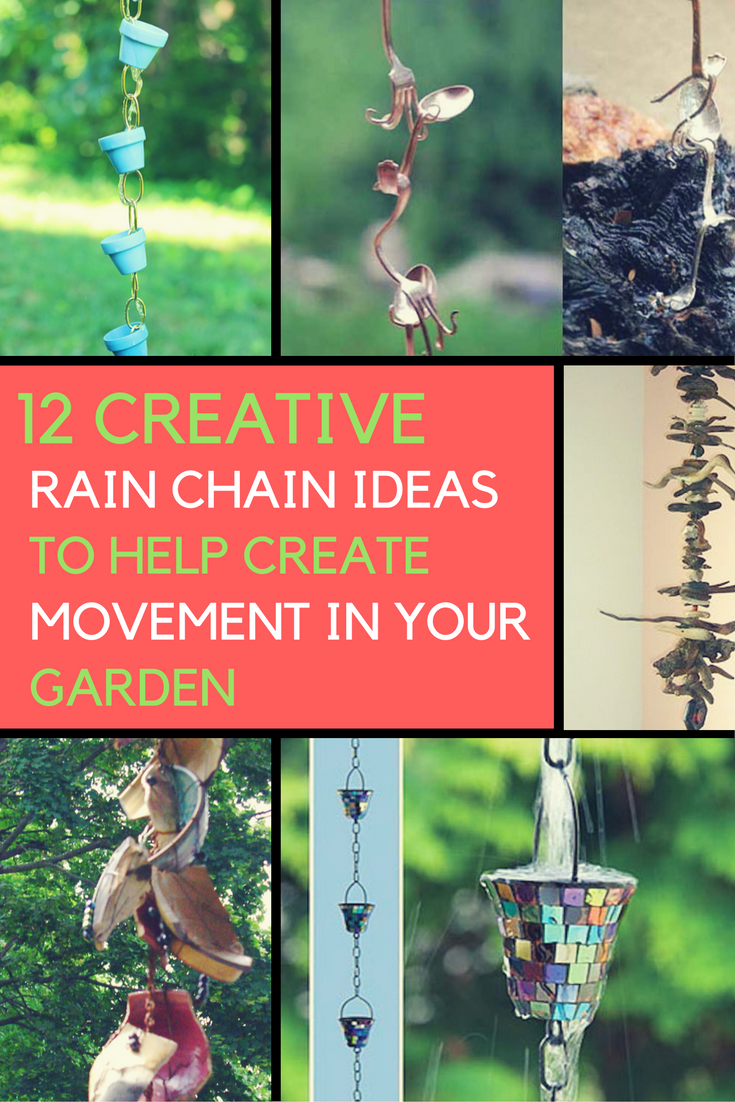 12 Creative Rain Chain Ideas That Will Help You Create Movement in Your Garden. | Ideahacks.com