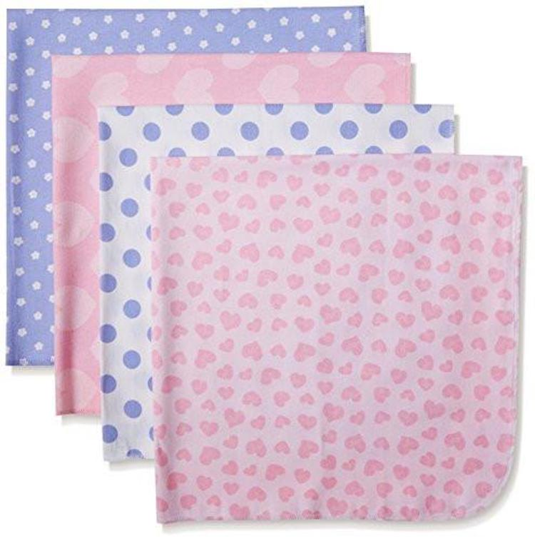 Gerber Baby 4 Pack Flannel Receiving Blankets