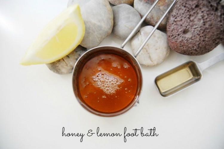 Honey and Lemon Foot Bath