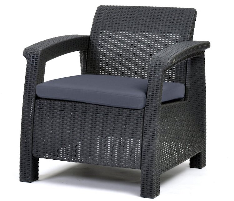 Keter Corfu Armchair All Weather Outdoor Patio Garden Furniture