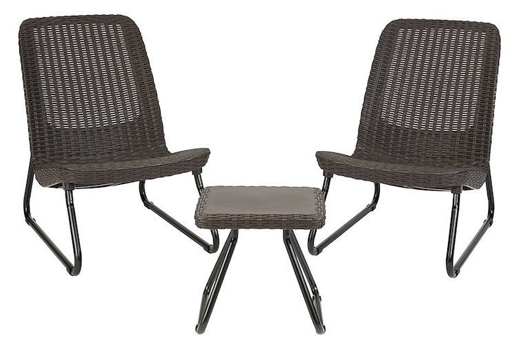 Keter Rio All Weather Outdoor Patio Garden Conversation Chair