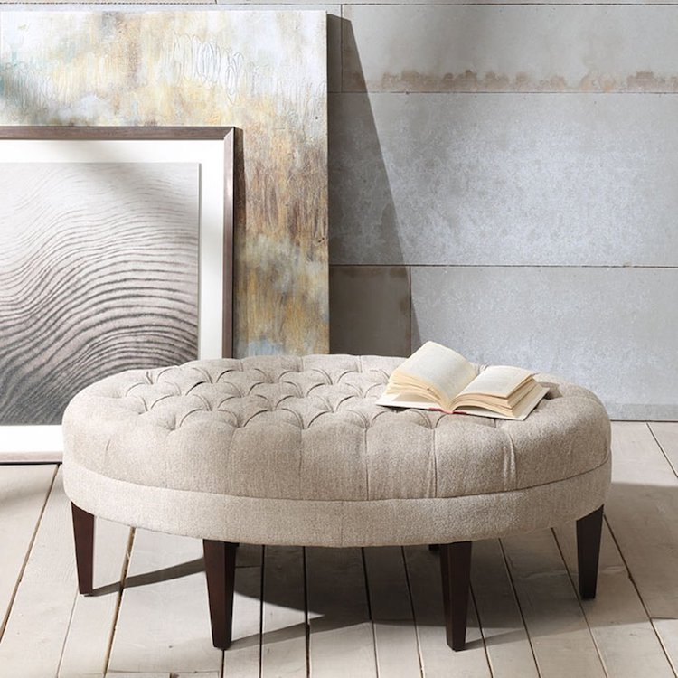 Madison Park Martin Surfboard Tufted Ottoman