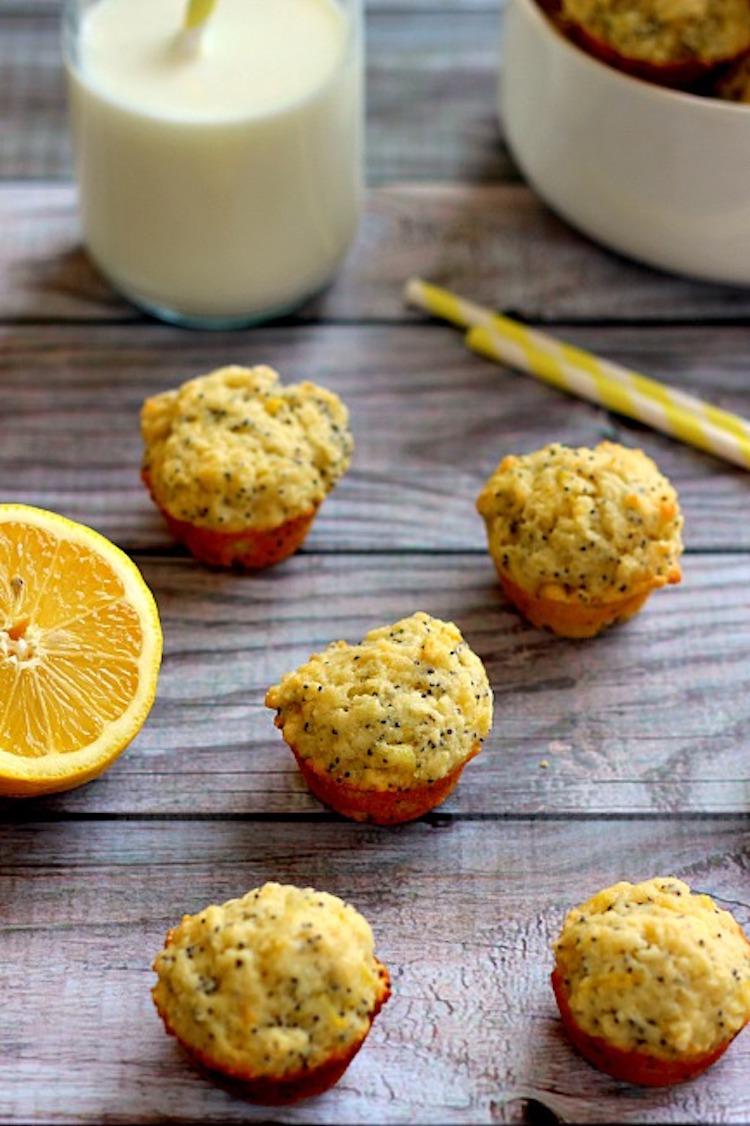 These Mini Lemon Poppy Seed Muffins are sweet, moist, and full of fresh lemon flavor. | Ideahacks.com