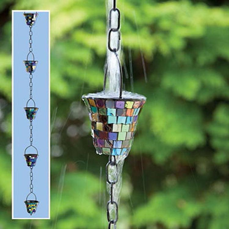 Mosaic Rain Chain