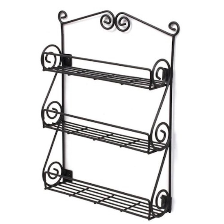 Spectrum Diversified Scroll Spice Wall Mount Rack