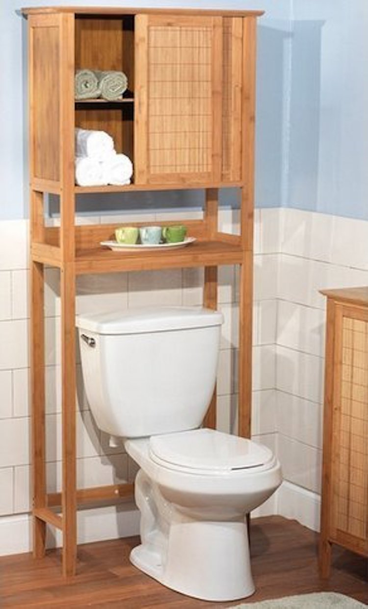 Towel Shelf Over Toilet