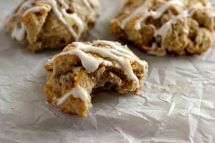 White Chocolate Cinnamon Biscuits