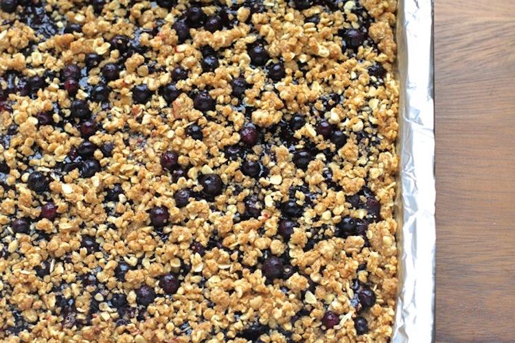 Baking Blueberry Oatmeal Crumble Bars