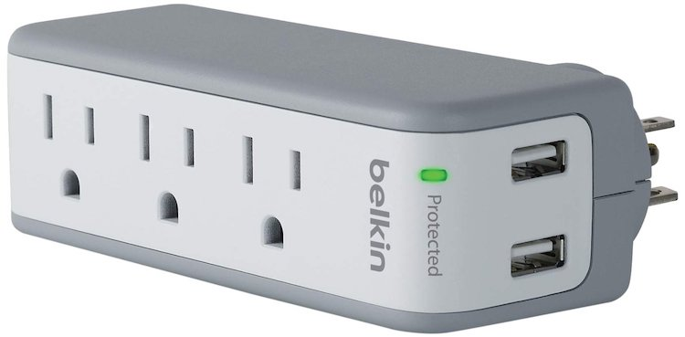 Belkin 3-Outlet SurgePlus Mini Travel Swivel Charger