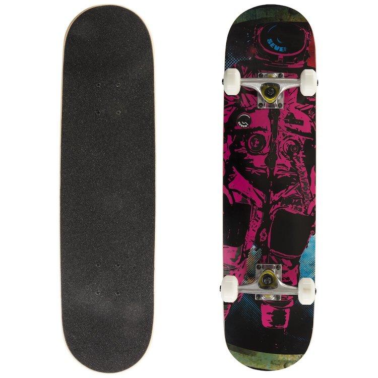 Cal Seven Complete Astronaut Popsicle Double Kicktail Skateboard