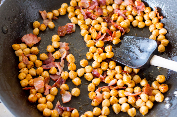 Chickpeas with Bacon