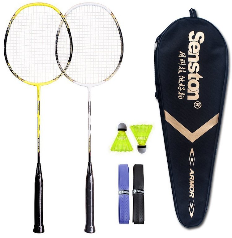 Senston 2 Player Graphite Badminton Racket Set