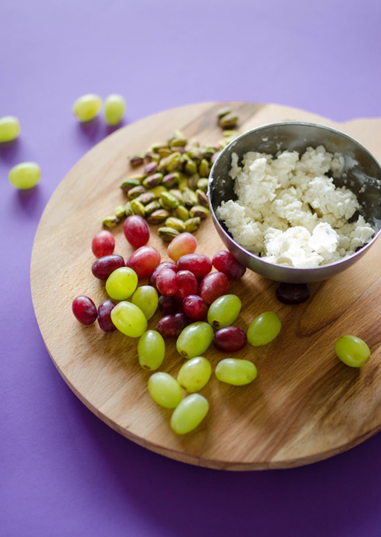 Goat Cheese Wrapped Grape Bite Ingredients