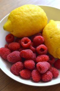 Gooey Lemon Raspberry Brownies